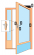 Package 6E High Security Narrow stile door